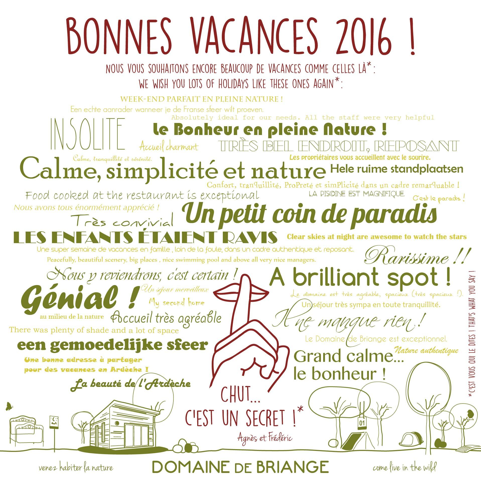 Bonnes vacances 2016