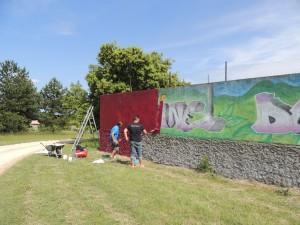peinture mur Briange