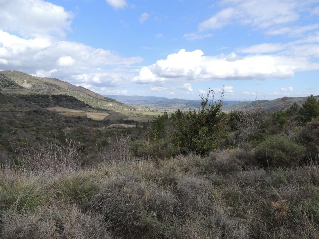 vue sur la vallée de Valvignères, depuis le col de la farre