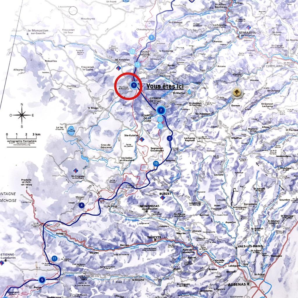 Le Partage des eaux - Parcours artistique du Parc des Monts d'Ardèche